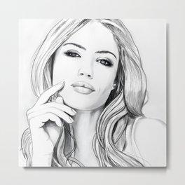 Xenia Tchoumitcheva Portrait of an angel with a frame Metal Print