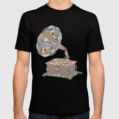 SEEING SOUND LARGE Mens Fitted Tee Black