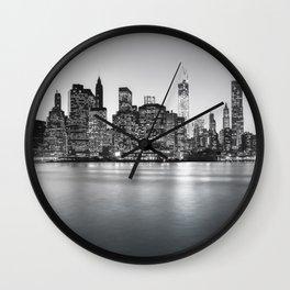 New York City Skyline - Financial District Wall Clock
