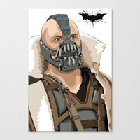 bane Canvas Prints featuring Bane by Thomas Moore