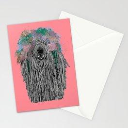 Dredlock Dog (Pastel Red Edition) Stationery Cards