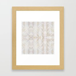 Royalty || #pattern #minimal Framed Art Print