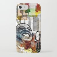 louis armstrong iPhone & iPod Cases featuring Louis Armstrong: Hello Dolly! by Ed Pires