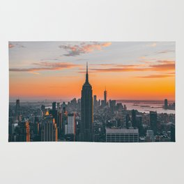 Top Of The Rock at Sunset Rug