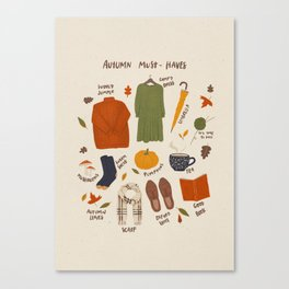 Autumn must-haves Canvas Print