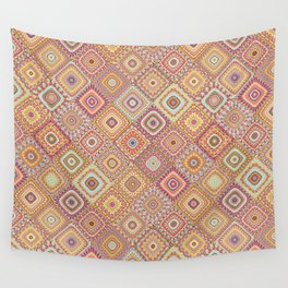 Granny's Millefiori Quilt-Spring Colors Wall Tapestry