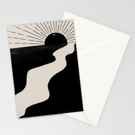 Abstract Landcape Stationery Cards