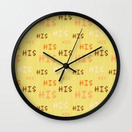 "Christian Prophetic Worship ""HIS"" Wall Clock"