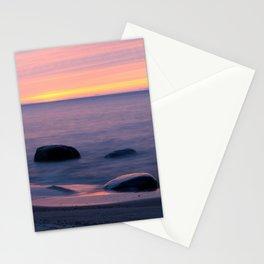 Lake Superior Sunset neat Ontonagon, Michigan Stationery Cards