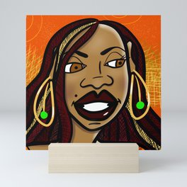 Skeptical Sista Mini Art Print