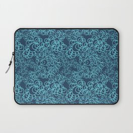 Blue Flower Doodle Laptop Sleeve
