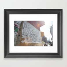 writing on the wall::nyc Framed Art Print