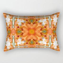 Abstract kaleidoscope of a beautiful day lily Rectangular Pillow