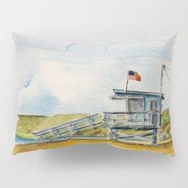 Santa Monica Beach - Lifeguard Tower #8 Pillow Sham