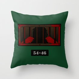 54-46 - Red Throw Pillow
