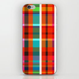Madras Bright Check iPhone Skin