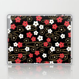 Black Sakura Kimono Pattern Laptop & iPad Skin