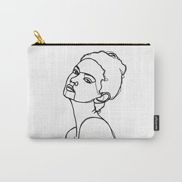 Women face one line drawing - Adel Carry-All Pouch