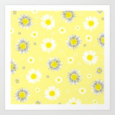 Daisies - Yellow Art Print