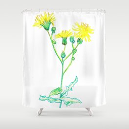 Summer Weeds Shower Curtain