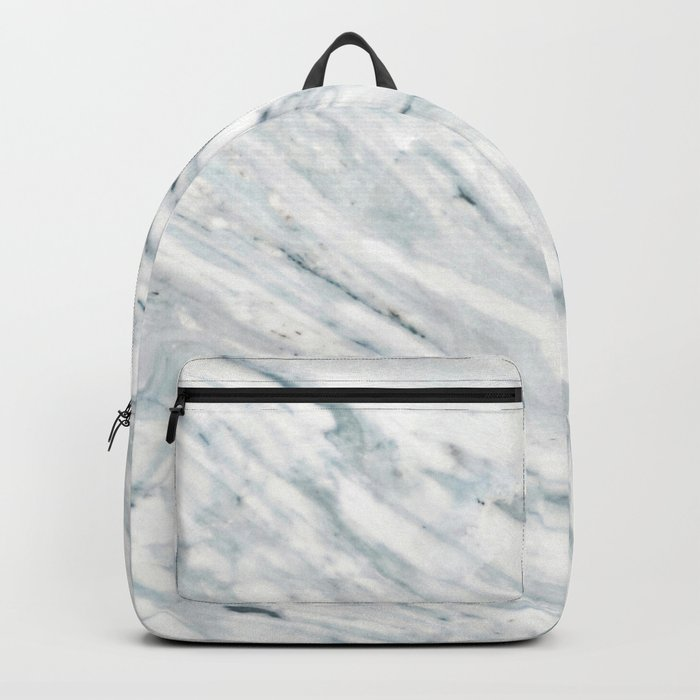Real Marble Pattern - Swirly White and Gray Marble Backpack