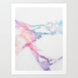 Unicorn Vein Marble Art Print