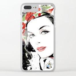 Vogue Fashion Illustration #16 Clear iPhone Case