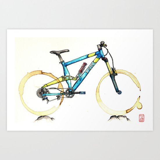 Coffee Wheels #14 Art Print