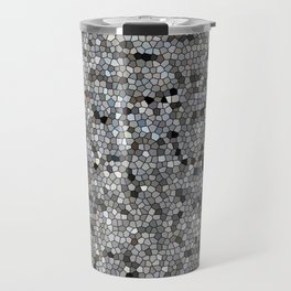 Grey Mosaic pattern Travel Mug