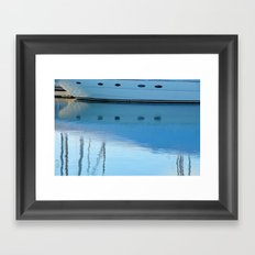 Newport Harbor Reflections Framed Art Print