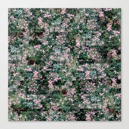 Pink Berry Pattern Canvas Print