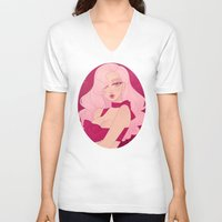 minnie V-neck T-shirts featuring Merry Minnie by Petite Passerine