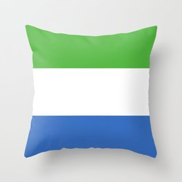 Sierra Leone flag emblem Throw Pillow