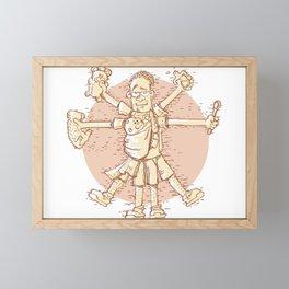 Vitruvian Dad Framed Mini Art Print