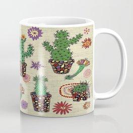 mosaic cactus plant pots Coffee Mug