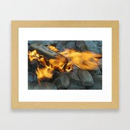 camp vibes Framed Art Print