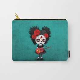 Day of the Dead Girl Playing Vietnamese Flag Guitar Carry-All Pouch