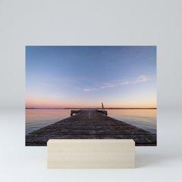 Sunset On The Dock Mini Art Print
