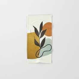 Soft Abstract Small Leaf Hand & Bath Towel
