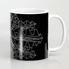 starburst line art - black Mug