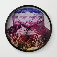 christ Wall Clocks featuring Thrice Christ by EclecticArtistACS