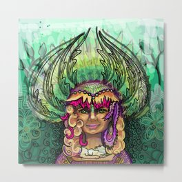 Meditation - Green Tara Metal Print