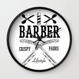 Barber Life   Barbershop Barber T-Shirt Wall Clock