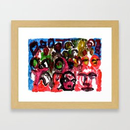 The Street Party 15 Framed Art Print