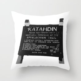 To Katahdin Throw Pillow