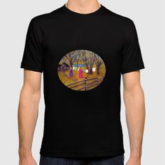 Wash day MEDIUM Mens Fitted Tee Black