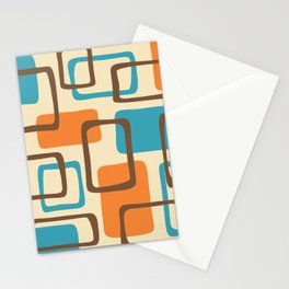 Mid Century Modern Abstract Squares Pattern 421 Stationery Cards
