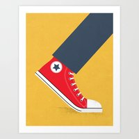 Awful Lot of Running – Red Art Print