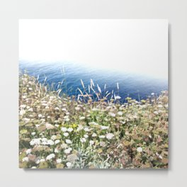 Flowers by the cliff Metal Print