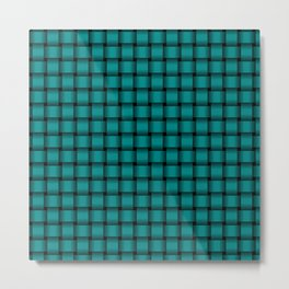 Small Dark Cyan Weave Metal Print